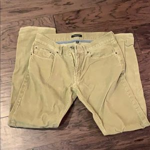 Corduroy khaki men's pants